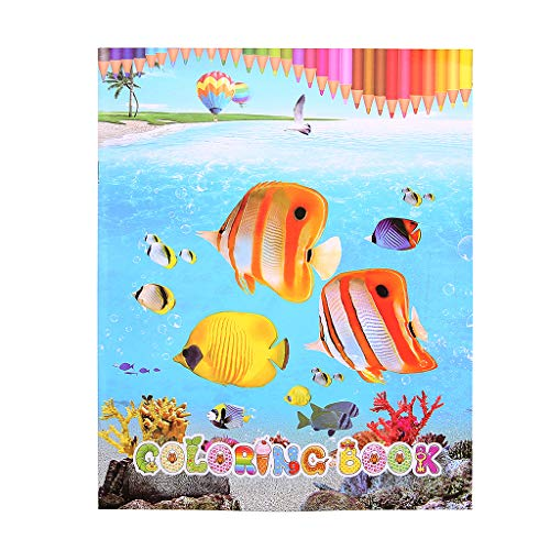 - Bluederst Creative Tropical Fish Coloring Book Painting Graffiti for Children Education