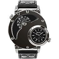 Men's Unique Analog Watch, Aposon Fashion Dress Quartz Wrist Watch with Dual Dial Cool Design...