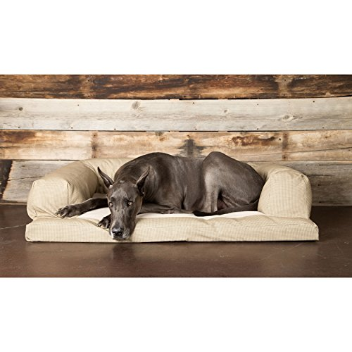 Hidden Valley Products Hidden Valley Baxter Houndstooth Small to Extra-Large Fleece Dog Couch Extra Large by Hidden Valley Products