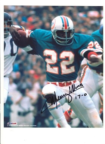 (Autographed Mercury Morris Miami Dolphins 8x10 Photo)