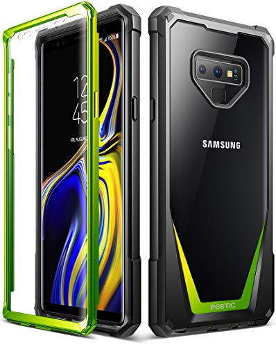 Galaxy Note 9 Case, Poetic Guardian [Scratch Resistant Back] [360 Degree Protection] Full-Body Rugged Clear Hybrid Bumper Case with Built-in-Screen Protector for Samsung Galaxy Note 9 Green