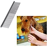 Ogori Pet Steel Grooming Comb, Dog Comb, Tools, Durable Steel for Grooming