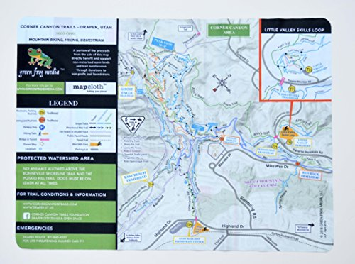 MapCloth - Corner Canyon, Draper Utah - Mountain Bike and Hiking Trails Lens Cloth Map