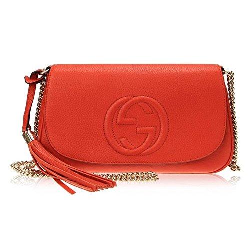 Gucci-Disco-Interlocking-G-Leather-Chain-Tassel-Shoulder-Bag-336752-7527-Orange
