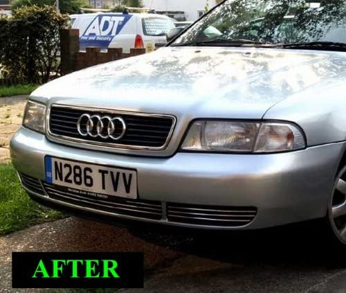 GTG 2002-2004 Audi A6 A6 Quattro 3PC Polished Replacement Billet Grille Kit