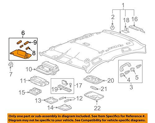 Left Honda Genuine 83280-SCA-A03ZA Sun Visor Assembly