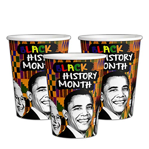 Ounce 9 Cups Clothes - 12 Black History Month Party Paper Cups | Black History Month | 9 oz