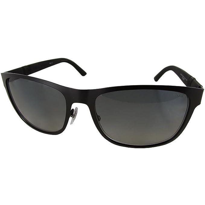 Gucci Gafas de sol para hombres 56mm Marco mate negro/lente polarizada gradiente gris