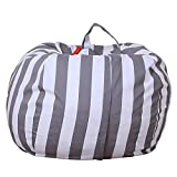 Amyove 26inch Stuffed Animal Storage Bean Bag Cover Kids Plush Toys Storage Pouch Colorful High-capacity Durable Canvas Household Goods Storage Bag YCK12