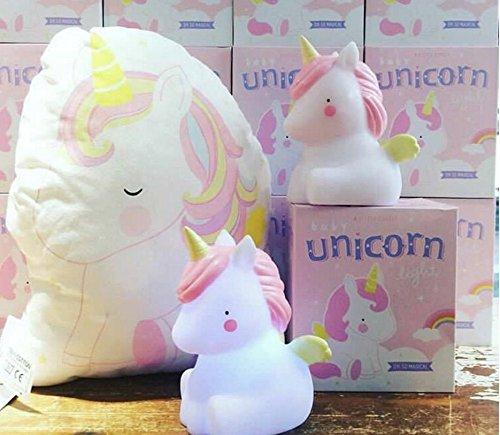 Lucktao LED Night Light for Kids, Unicorn Safety PVC Baby Nursery Lamp (Brontosaurus)