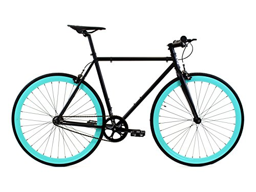 Golden Cycles Single Speed Fixed Gear Bike with Front & Rear -