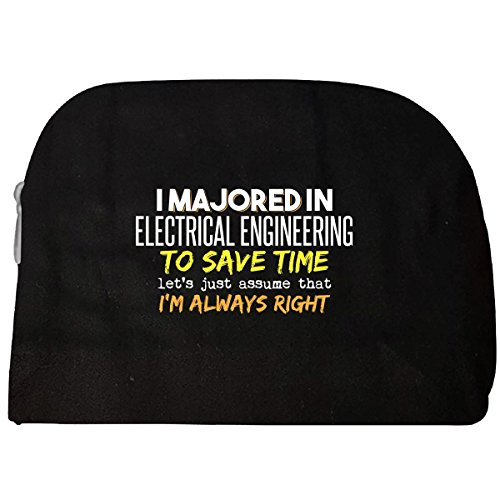 Majored In Electrical Engineering School Grad Major Graduation Gift - Cosmetic Case by My Family Tee