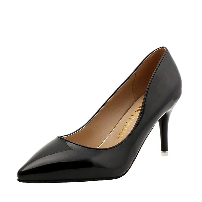 Zapatos de Tacón Alto de Mujer, QinMM Zapatos Mocasines de Fiesta de Oficina de Verano Boda: Amazon.es: Zapatos y complementos