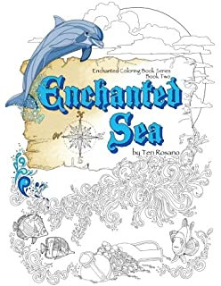 2 Enchanted Sea Coloring Book Books Volume