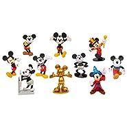 Disney Classic Mickey 90th 10Pk Deluxe Figure Set, Multi-Color