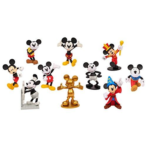 Disney 46080 Classic Mickey 90th 10Pk Deluxe Figure Set, Multicolor -