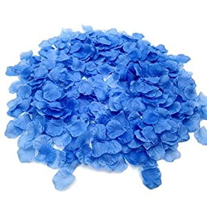 CODE FLORIST 2200 PCS Silk Flower Rose Petals for Wedding Decorations (Blue) 64