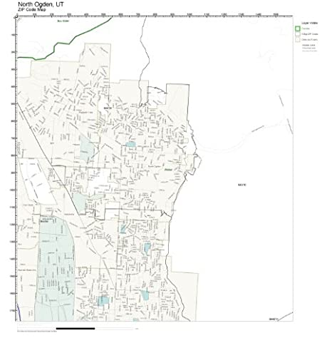 Amazon Com Zip Code Wall Map Of North Ogden Ut Zip Code Map