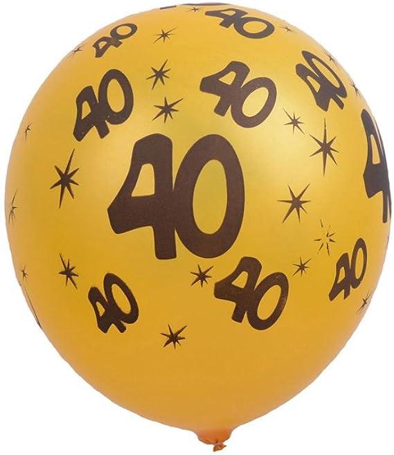 Redondo 40th Cumpleaños//Aniversario Rojo 11 pulgadas Qualatex Globos De Látex Edad 40-A