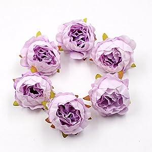 15pcs/lot 5cm Peony Flower Head Silk Artificial Flower Wedding Decoration DIY Garland Scrapbook Gift Box Flower 4