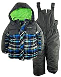 Rugged Bear Baby Boys' AO Plaid Snowsuit, Charcoal, 18 Months
