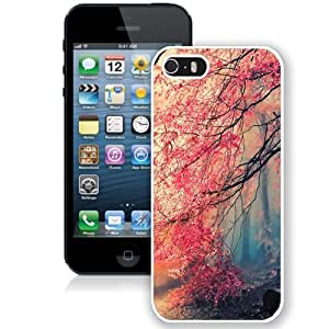 Personalized Phone Case Design with Japanese Red Forest iPhone 5s Wallpaper in White