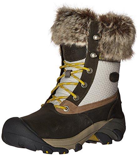 KEEN Women's Hoodoo III Low Waterproof Shoe,Gargoyle/Warm Olive,6 M US by KEEN