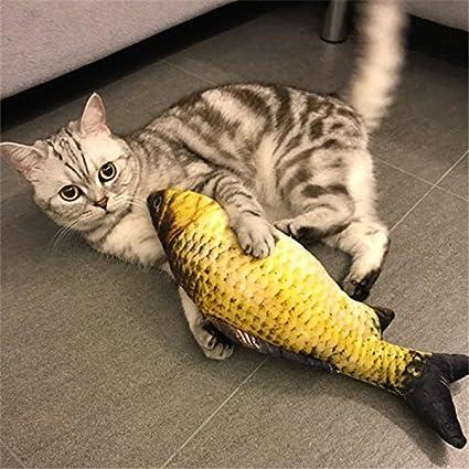 YBpineer Pecera de Juguete para Gato con Forma de pez con Forma de Menta para Gatos