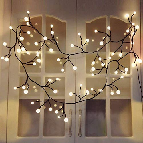 YMING Curtain Lights Indoor Outdoor, 8.3Ft 8 Modes 72 Led Globe String Lights Plug in, Window Lights for Patio Garden Wedding Party Bookshelf, Warm White