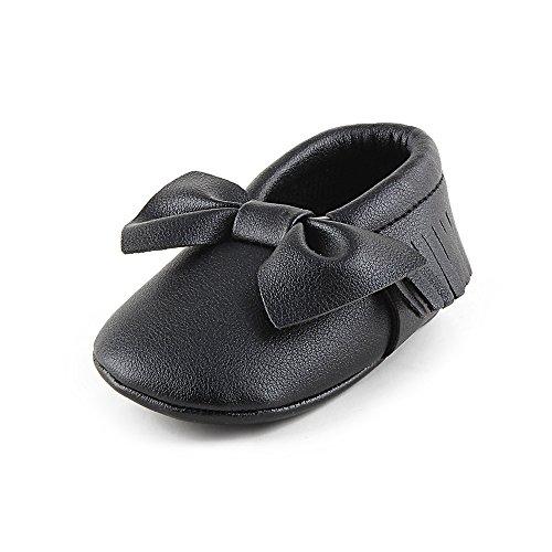 Chaussures bébé Enfant PU Cuir Chaussures Gland Frotter Arc Velours Velouté (0-6 Mois)