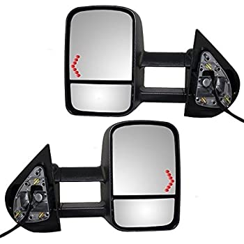 APA Chevy Silverado Sierra 07 - 13 Towing Power Heated With Signal Light Mirror Pair