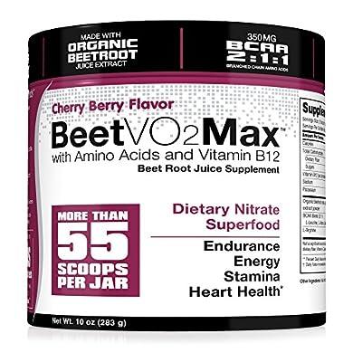 BeetVO2Max-Organic-Beet-Root-Juice-Powder-BCAA-Amino-Acids-Vitamin-B12-L-Arginine-Nitric-Oxide-Booster-Supplement-Non-GMO-Hyper-Endurance-Formula