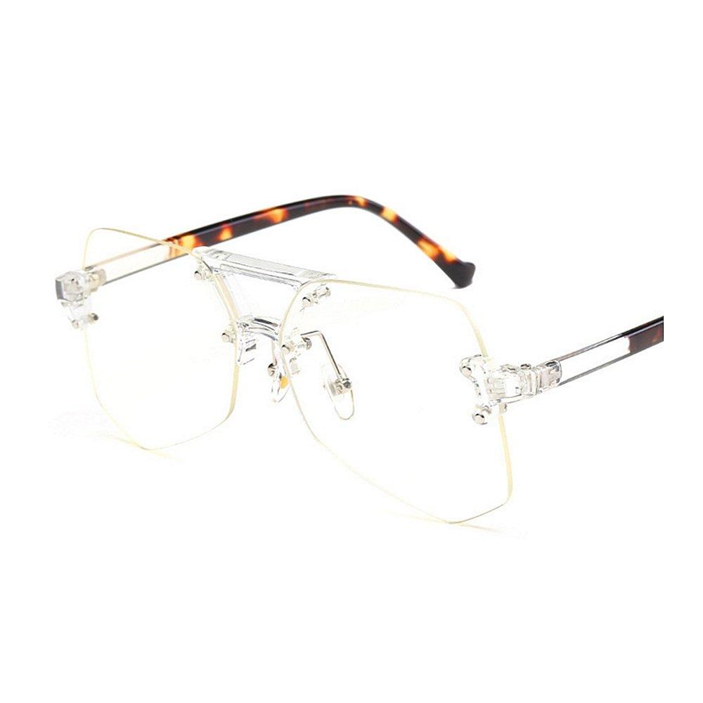 Personalidad transparente gafas de sol sin marco para la conducción ...