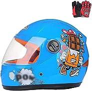 Boys & Girls Kids Motorcycle Helmet for Kids, Bicycle, Full Face Bicycle Helmet, Moped, Scooter, Sport, Su