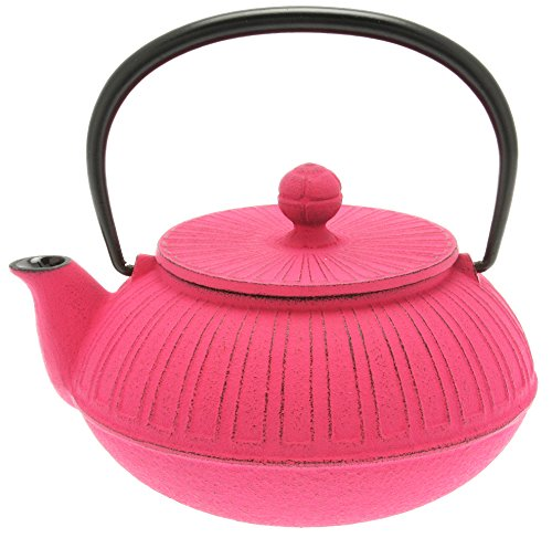 Iwachu Japanese Iron Tetsubin Teapot, Pink Chrysanthemum ()