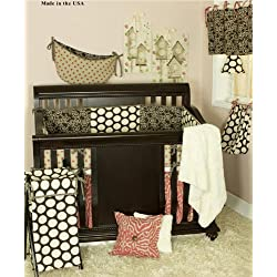 Cotton Tale Designs Raspberry Dot 8 Piece Boy's Crib Bedding Set