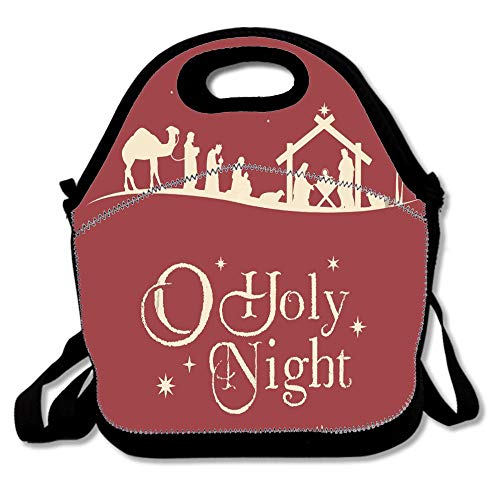 Holy Christmas Nativity Scene Silhouette Family Manger Baby Religious Waterproof Reusable Lunch Bags For Men Women Adults Kids Toddler Nurses With Adjustable Shoulder Strap - Neoprene Lunch Tote for $<!--$9.99-->