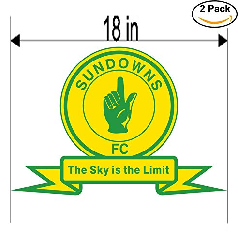 fan products of Mamelodi Sundowns South Africa Soccer Football Club FC 2 Stickers Car Bumper Window Sticker Decal Huge 18 inches