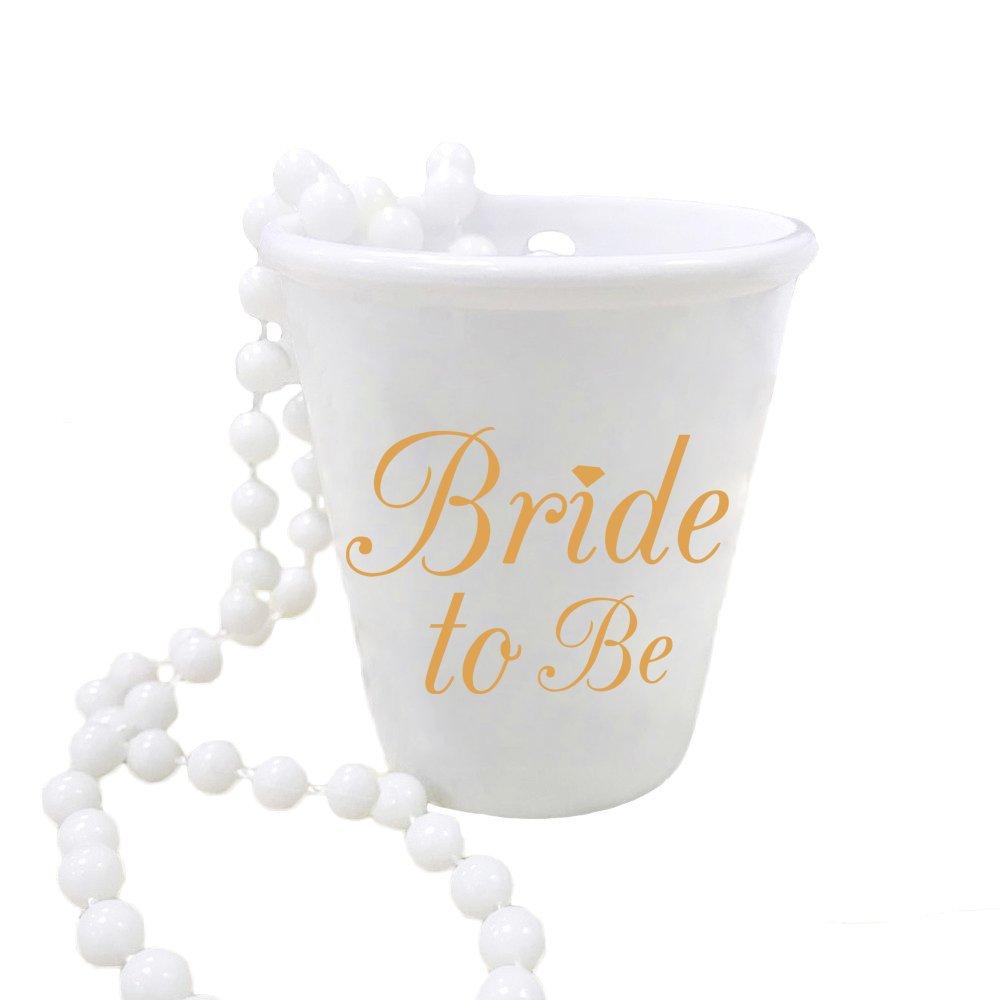 ruiqi 1 Bachelorette Party Bride and Bride Tribe Shot Glass Necklaces Set