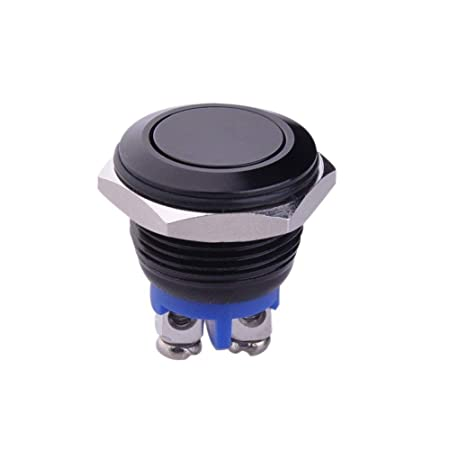 16mm 5/8 Mounting Hole Metal Momentary Push Button Switch, Waterproof Car  Switch Start Button