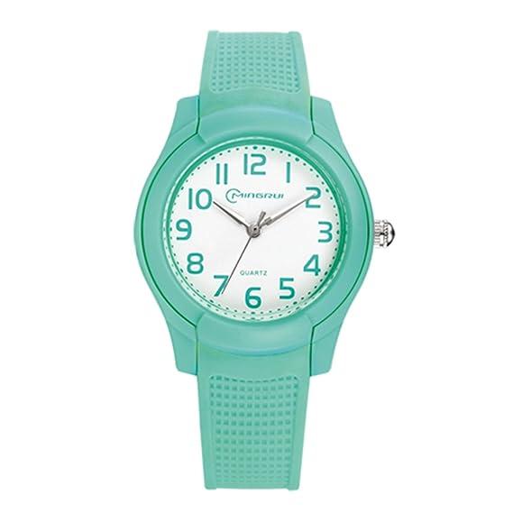 Relojes baratos para hombre y mujer/Reloj de cuarzo de moda/Impermeable reloj deportivo-G: Amazon.es: Relojes