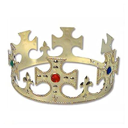 Amazoncom Gold Jeweled Prince Kingqueen Crown Toys Games