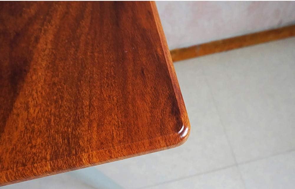 家庭用壁掛けデスク、片脚、ドロップリーフテーブルオフィスホーム用耐火木製テーブル、ライトウォールナット(サイズ:80× 40× 73cm)