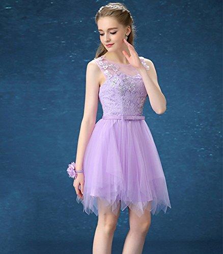 Drasawee A Linie Kleid Damen Violett Pp4F8q