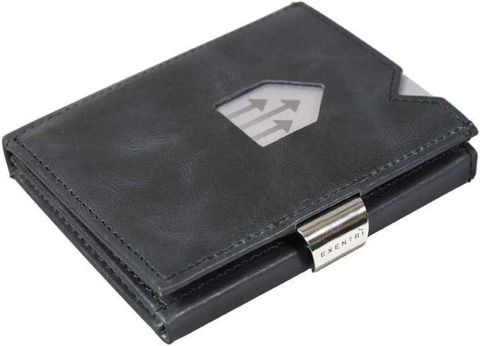 EXENTRI Wallet Geldbörse für bis zu 12 Kreditkarten Leder Börse ...