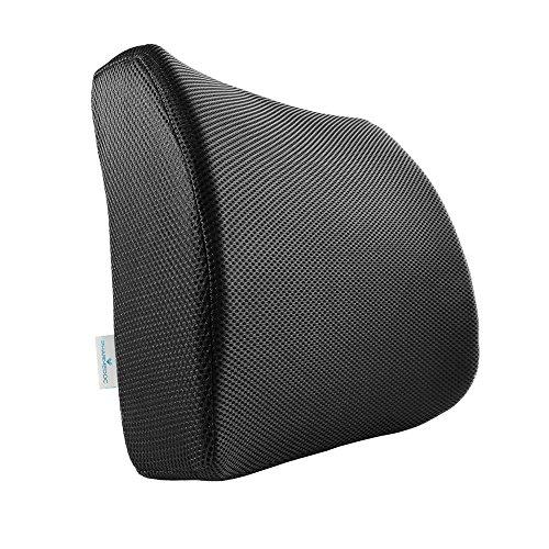 PharMeDoc Memory Foam Lumbar Support for Office Chair & Car Seat - Orthopedic Seat Cushion - Ergonomic Lumbar Pillow Design by PharMeDoc