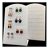 Acrylic Earrings Holder Shows Exhibition Store Display Stands White (Set of 2 Pieces)(Earring Studs)