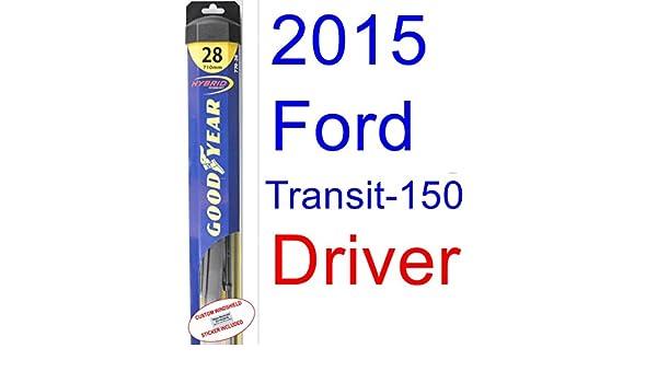 2015 Ford transit-150 XL hoja de limpiaparabrisas de repuesto Set/Kit (Goodyear limpiaparabrisas blades-hybrid): Amazon.es: Coche y moto