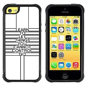 Suave TPU GEL Carcasa Funda Silicona Blando Estuche Caso de protección (para) Apple Iphone 5C / CECELL Phone case / / Quote Minimalist Lines Motivational /