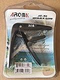 Aroma AC-03 Premium Metal Ukulele Capo for Ukulele, Black